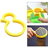Can Opener,FIN86 Cute Fashion Silicone Yellow Duck Bottle Opener,Anti-Skid Non Slip Screw Cap Can Lid Opener (1pc)
