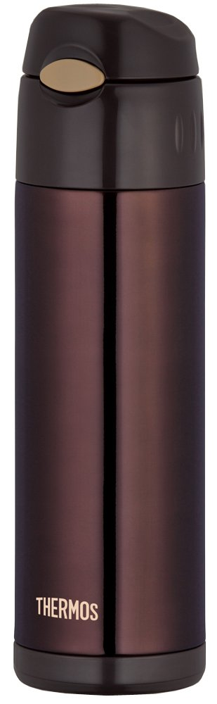 THERMOS vacuum insulation straw bottle 0.5L Brown FFI-500 BW THERMOS Thermos