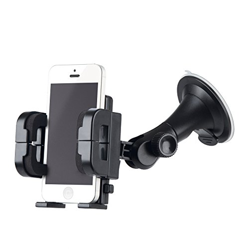 Merkury Innovations Fully Adjustable Car Mount for iPhone/Android - Retail Packaging - Black