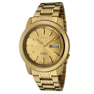 Seiko-Mens-SNKE56-Seiko-5-Automatic-Gold-Dial-Gold-Tone-Stainless-Steel-Watch