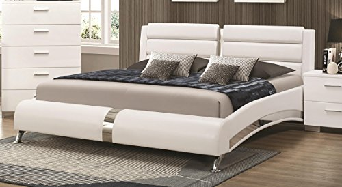 Coaster CO-300345KE Eastern King Bed, Glossy White