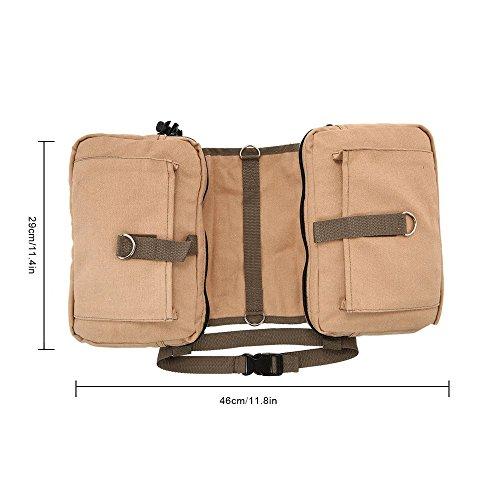 Lixada Hound Travel Camping Hiking Backpack Saddle Bag Rucksack Dog Pack for Medium or Large Dog by Lixada (Image #1)