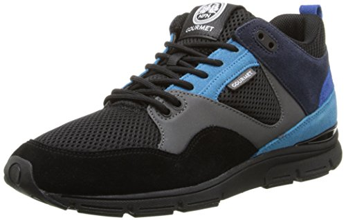Gourmet Para Hombre The 35 Lite Bk Fashion Sneaker Black / Cyan