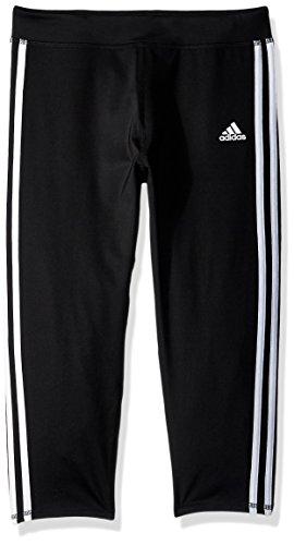 adidas Girls' Big Capri Legging, Black Adi, Large