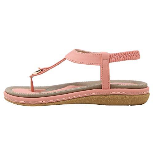 Picture of VFDB Women Slingback Thong Sandals Open Toe Summer Platform T-Strap Flip Flops Shoes