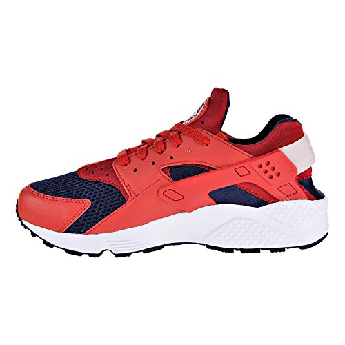 Mens White Trainers Leather Textile Huarache Air Nike Red vRPFTP