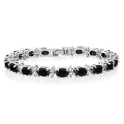 """Gem Stone King 20.00 Ct Gorgeous Oval and Round 7"""" Sparkling Cubic Zirconia CZ Tennis Bracelet from Gem Stone King"""