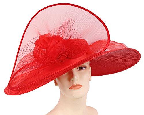 Ms Divine Wide Brim Womens Kentucky Derby Church Hats Dress Formal Wedding Sun Hats #4267 …