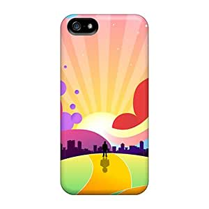 Premium Tpu World Of Colors Cover Skin For Iphone 5/5s