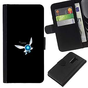 YiPhone /// Tirón de la caja Cartera de cuero con ranuras para tarjetas - Ehi ascolta - LG G2 D800