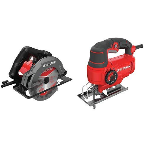CRAFTSMAN 7-1 4-Inch Circular Saw, 13-Amp with Jig Saw, 5.0-Amp CMES500 CMES610
