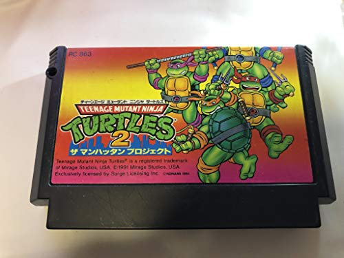 Teenage Mutant Ninja Turtles 2 FC NES Famicom Japan Import