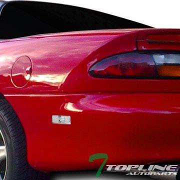Topline Autopart Clear Front/Rear Bumper Side Marker Reflector Lights K2 For 93-02 Chevy Camaro / 98-02 Pontiac Firebird