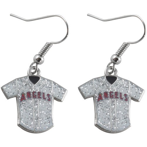 MLB Los Angeles Angels of Anaheim Ladies Glitter Jersey Earrings
