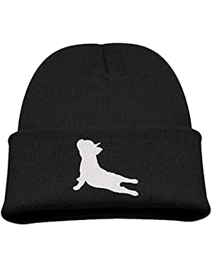 French Bulldog Yoga Boy Girl Beanie Hat Knitted Beanie Knit Beanie