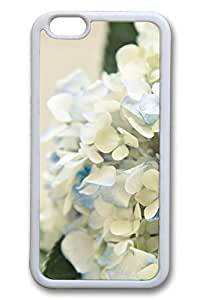 iPhone 6 Case - Hortensia Bouquet Beautiful Scenery Pattern Rubber White Case Cover Skin For iPhone 6 (4.7 inch)