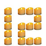 Micandle 12Pcs Led Timer Candle for Christmas,6 Hours on and 18 Hours Off in 24 Hours Cycle, Battery Operated Yellow Flicker Flameless Tea Lights for Church Home Tabel Decor