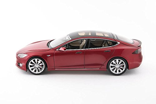 Tesla Diecast 1:18 Scale Model S P100D Red
