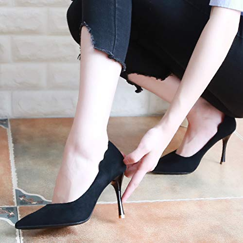 Shoes Heel Black KPHY Thirty Shoes Shoes Shallow Women'S Fine Pointed Shoes High 8Cm Heel Lace Four Simple Thin Autumn Fashion FFaHgqp