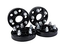 Wheel Spacer Set of 4-5x100 Pattern - 5x100mm Hub Centric Adapter 56.1mm Bore - M12 x 1.25 Studs 1 Inches Thick - Compatible with Subaru and Saab Vehicles - Impreza, WRX, WRX Premium, XV, Outback, BRZ