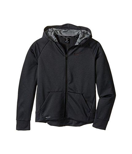 Nike Boy's Therma Full-Zip Hoodie (Large, Anthracite/Dark Steel Grey)