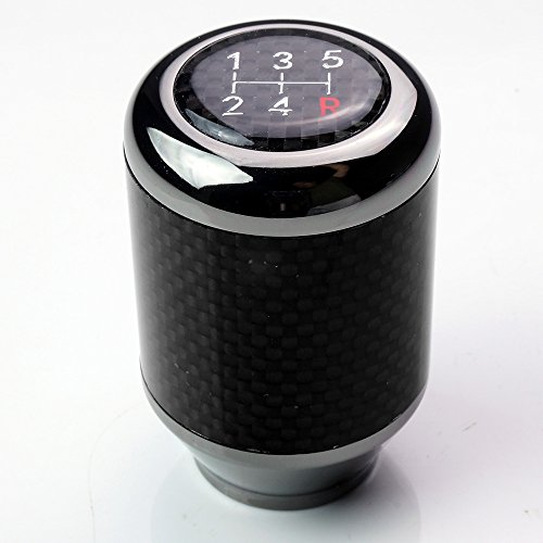 ModifyStreet Fatboy Style 5-Speed 393g Weighted Shift knob - JDM Gunmetal/Carbon Fiber