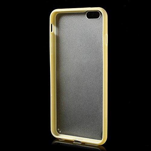 Apple iPhone 6Plus/6S Plus Étui Case TPU Bumper Transparent Jaune decui Jaune/TPU Coque en gel