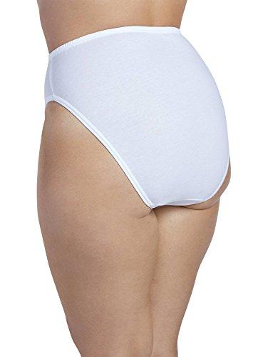 b532c15ce960 Jockey Women's Underwear Plus Size Elance French Cut - 3 Pack, white, 8