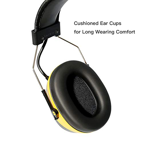 DIPFSUC Rechargeable Bluetooth AM/FM Radio Headphones,Wireless Hearing Protection Safety Work Ear Muffs with 1200mAh Li-ion Battery,NRR 25dB Noise Cancelling Headsets for Lawn Mowing/Construction by DIPFSUC (Image #4)