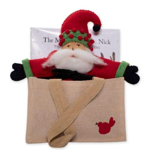 (Vietri The Magic of Old St. Nick: The Adventure Begins Book w/Doll in A Stamped Canvass Tote)