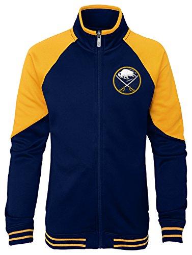 Outerstuff NHL Buffalo Sabres Youth Girls Faceoff Full Zip Jacket, Medium(10-12), True Navy ()