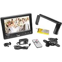 Pyle PLCMHD70 7-Inch HD Video On-Camera Field Monitor, HDMI, YPbPr, AV, Audio Inputs for Digital Cameras, Video and DSLR Cameras (Black)