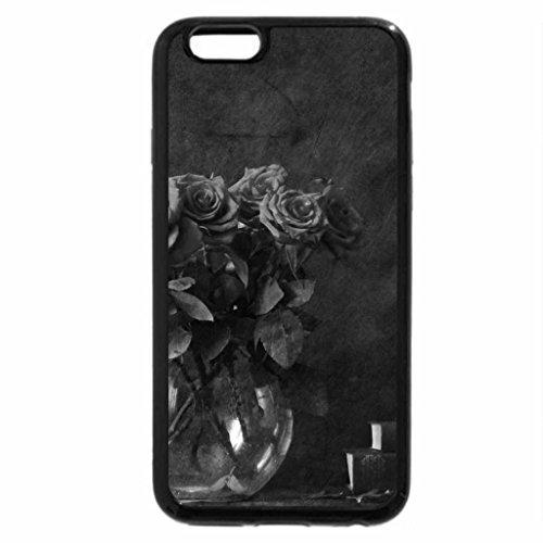 iPhone 6S Plus Case, iPhone 6 Plus Case (Black & White) - Roses and Book