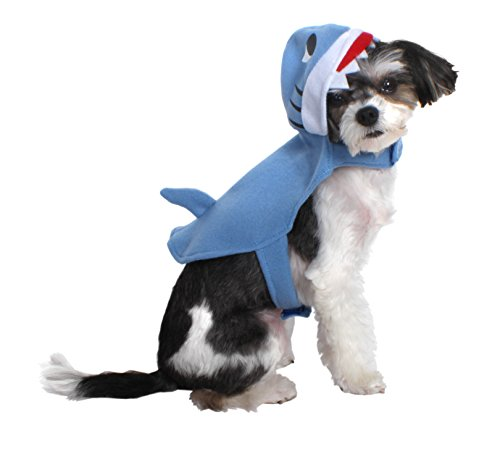 Cat Shark Fin Costume (AKC-American Kennel ClubClub AK3044-M Halloween Hooded Shark Pet Costume, Medium)