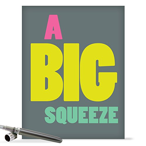 J9688 Jumbo Funny Thank You Card: Big Squeeze With Envelope (Extra Large Version: 8.5'' x 11'')