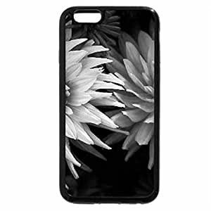 iPhone 6S Case, iPhone 6 Case (Black & White) - Simple Floral Beauty