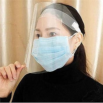 BWJL /écran Facial Transparent Unisexe Anti Splash Verre Anti-bu/ée visi/ère Claire Facilement r/églable Protecteur Facial Complet isolement Ont Virus Cap