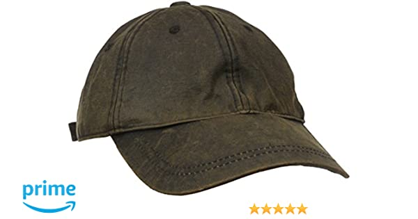 294a9a0570219 San Diego Hat Co. Men s Distressed Wax Cloth Ball Cap with Adjustable  Strap