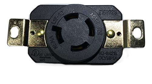 NEMA L6-30R Locking Receptacle 250V, 30A by Powertronics Connections (TM)
