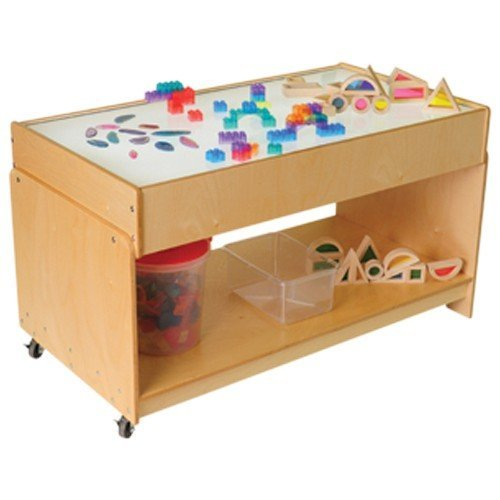 Constructive Playthings WB-742 Mobile Led Light Table (Shown With Accessories- Not Included) , Brown