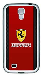 Samsung Galaxy S4 Case, S4 Case - Protection Soft Bumper Case Cover for Samsung Galaxy S4 I9500 Ferrari Logo 3 Scratch-Resistant White Soft Rubber Case for Samsung Galaxy S4 I9500