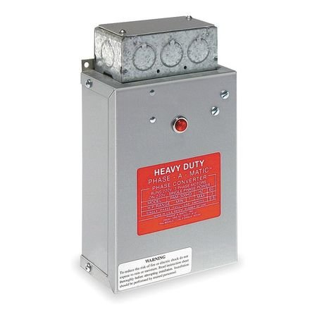 Phase Converter, Static, 1-3 HP