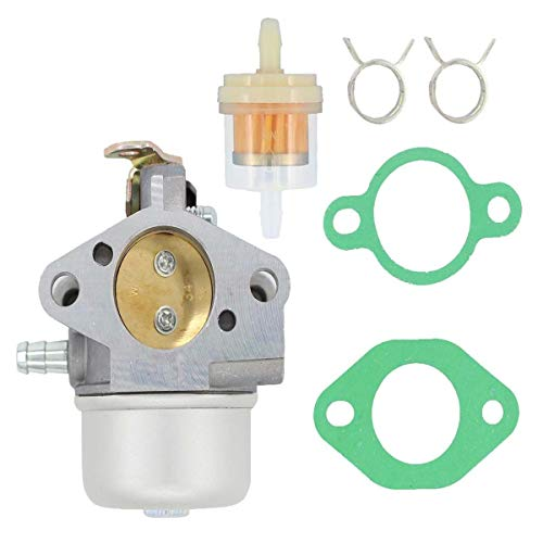 Triumilynn AM125355 Carburetor Fit for John Deere LT133 LT150 LT155 LTR155 Tractor GS30 Commercial Walk Behind Mower with Fuel Filter Clamp Gaskets (Carburetor Clamps)