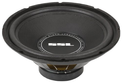 Sound Storm SS12 12 Inch, 800 Watt, Single 4 Ohm Voice Coil Car Subwoofer