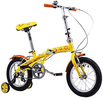 AJZGF Bicicletas niños Bicicleta for niños 14 Pulgadas niño niña ...