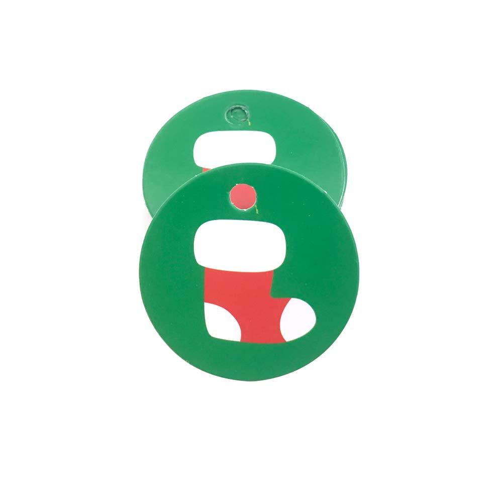 Tmacok Etiqueta de decoración de listado paquete de cuerda de ...