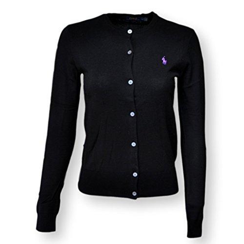 Polo Ralph Lauren Damen Strickjacke Cardigan Feinstrick black Größe M