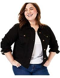 Women's Plus Size Stretch Denim Jacket