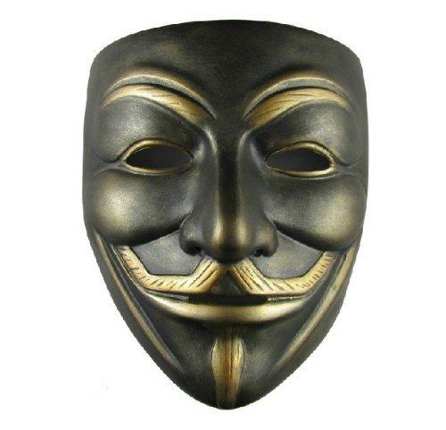 ECOSCO Halloween mask V For Vendetta Mask Resin Bronze (V For Vendetta Masks)