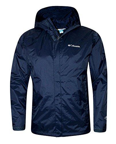 Columbia Mens Timber Pointe Omni Tech Rain Hooded Waterproof Jacket 2017 (L, NAVY)